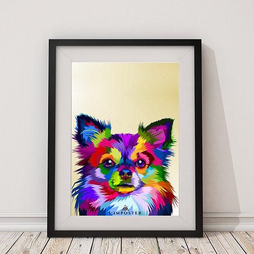 Affiche Chihuahua origami