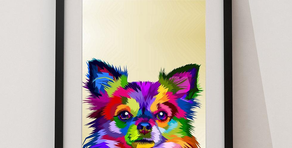 Affiche Chihuahua origami 71