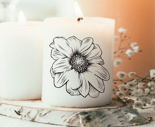 Bougie Imprimée Fleur vintage