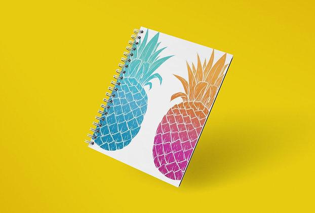 Cahier à spirale Ananas multicolors