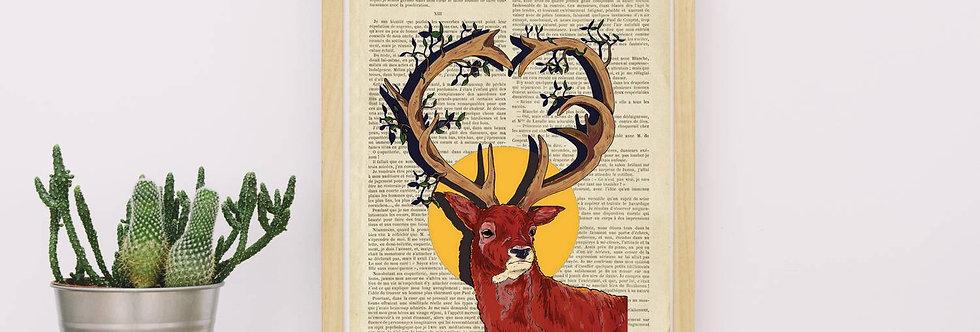 Affiche vintage Cerf Love