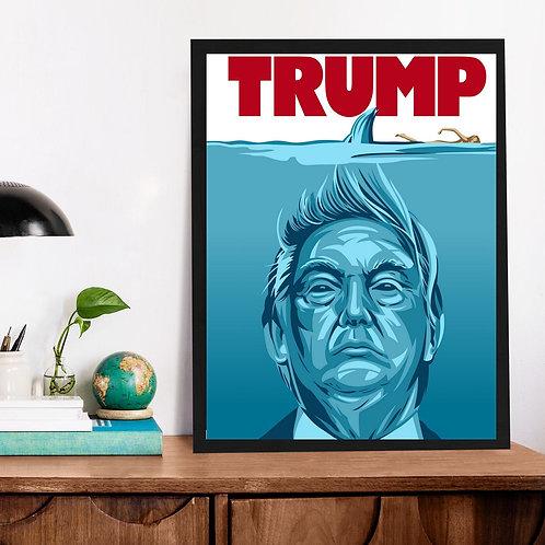 Affiche Trump les dents de la mer