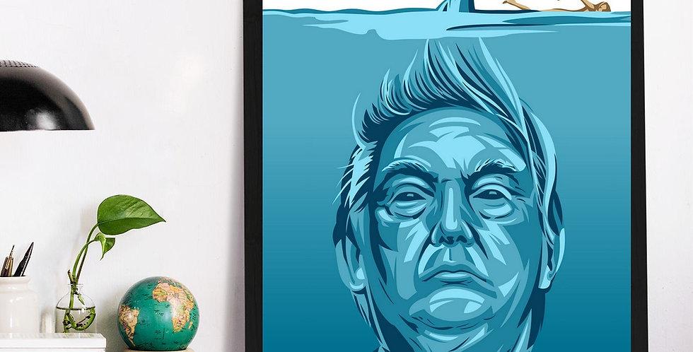 Affiche Trump les dents de la mer 553