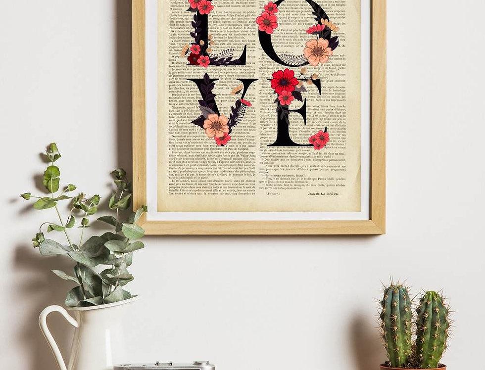 Affiche vintage LOVE