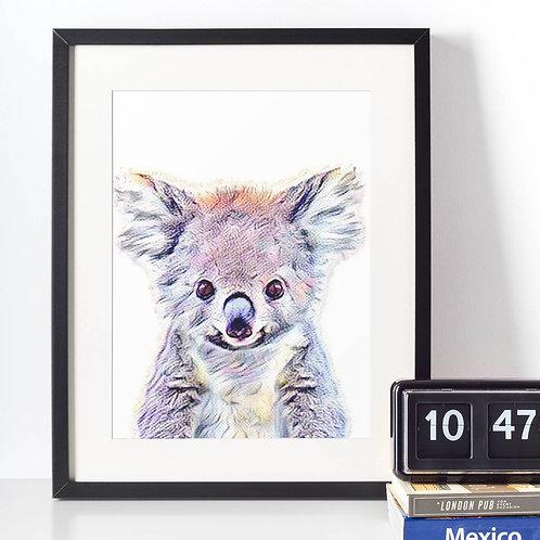 Affiche Koala watercolor