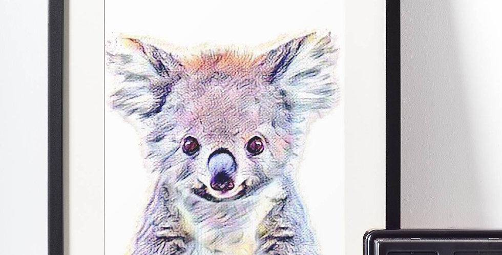 Affiche Koala watercolor 504