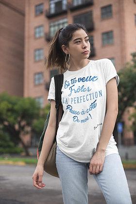 T-shirt unisexe Frôler la perfection Citation