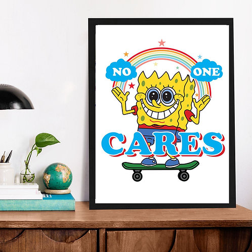 Affiche No one Care Bob