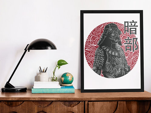 Affiche illustration star wars