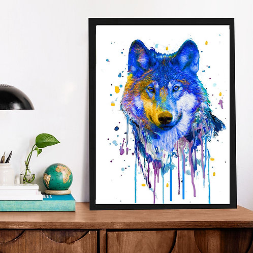 Affiche Loup  watercolor