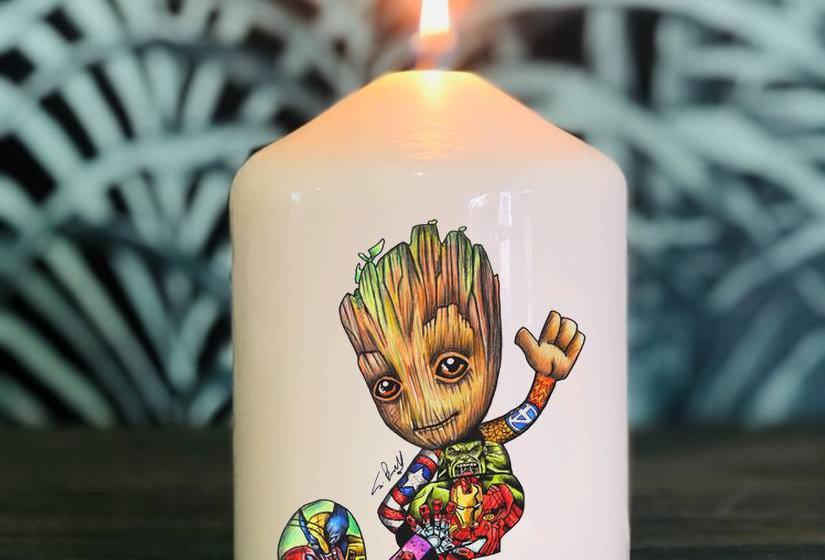 Bougie Groot Tatoo By Little Sams Art