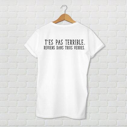 T-shirt reviens dans trois verres