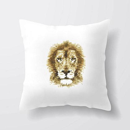 Housse de coussin Lion Illustration