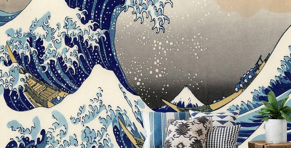 Papier peint panoramique Vague japonaise 261/270cms