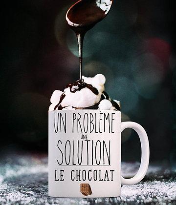 Mug Un problème une solution le chocolat