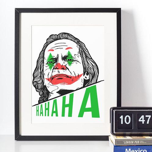 Affiche illustration joker (clown)