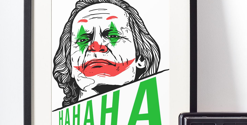 Affiche illustration joker (clown) 447