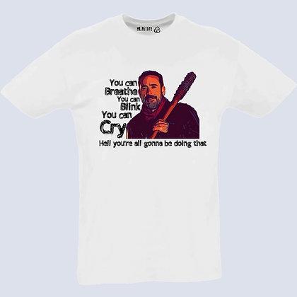 T-shirt Femme Col V the walking dead