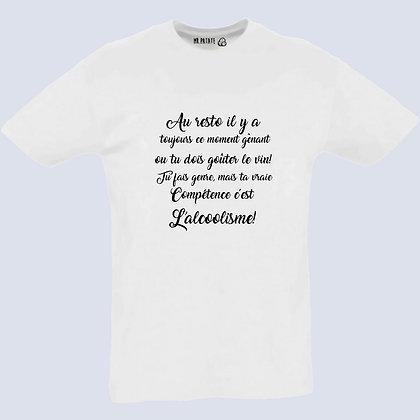 T-Shirt Unisexe Alcoolo citation