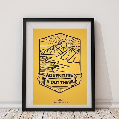 Affiche citation adventure