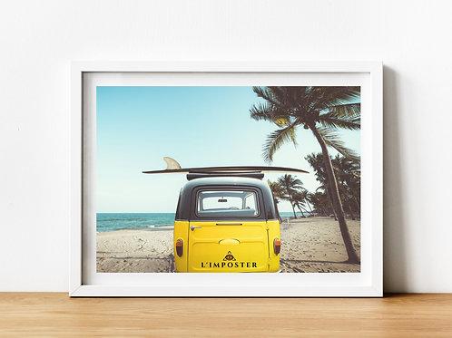 Affiche plage palmier van