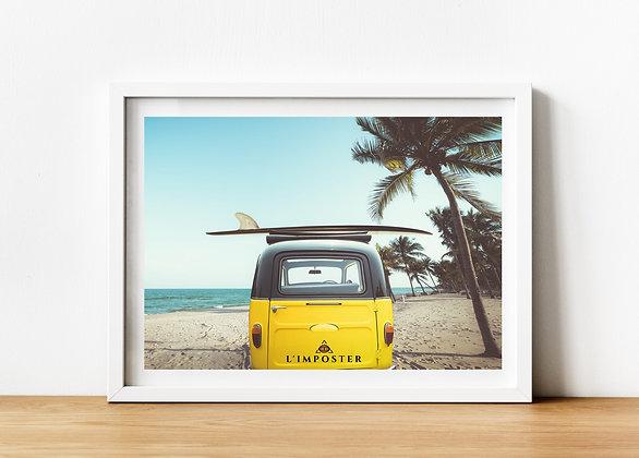 Affiche plage palmier van 160