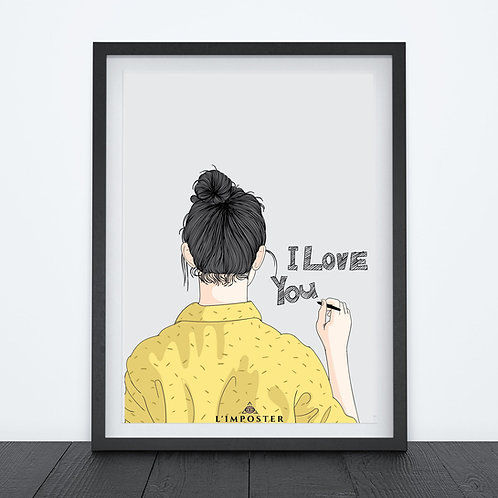 Affiche Woman i love you