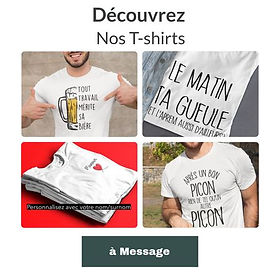 T-shirt à message citation