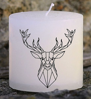 Bougie Personnalisée Nany Candle Cerf origami