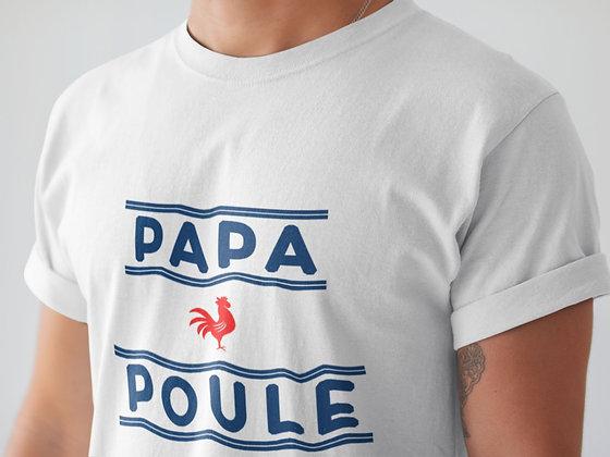 T-shirt fête des pères - papa poule