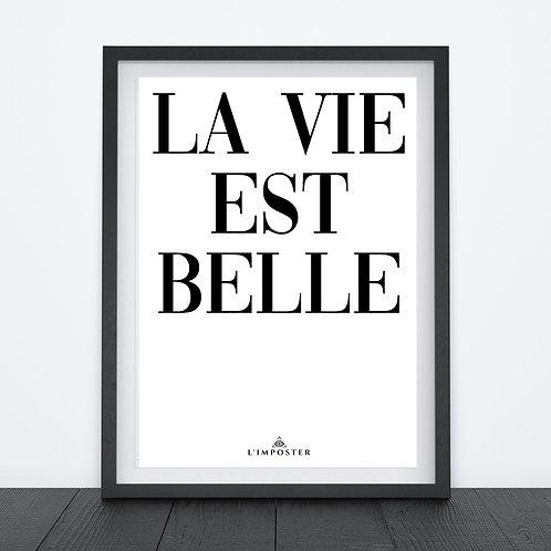 Affiche citation la vie est belle