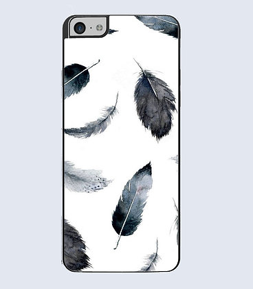 Coque mobile iPhone Plumes watercolor 730