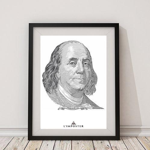 Affiche Benjamin Franklin
