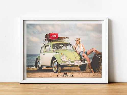 Affiche photo fille vintage