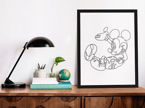 Affiche Illustration Mickey