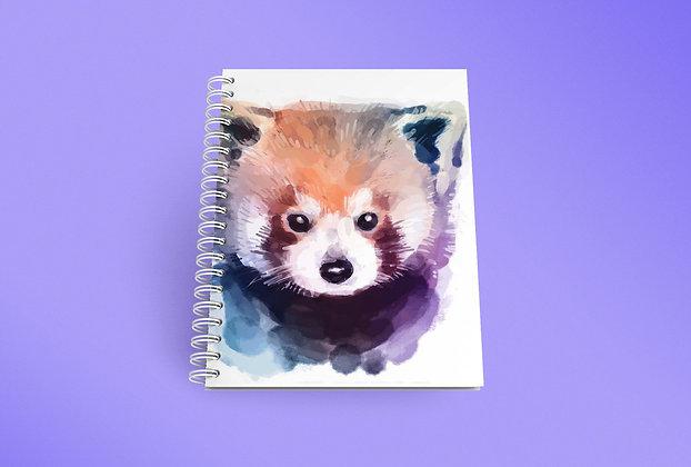 Cahier à spirale Panda roux
