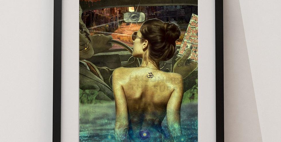 Affiche femme dans la piscine 227