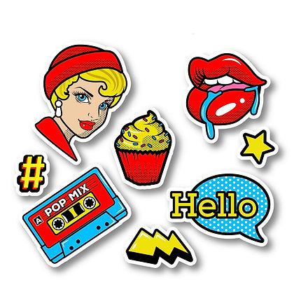 Stickers Personnalisés vintage funny