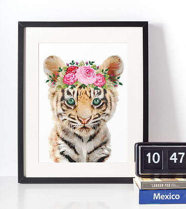 Affiche Tigre watercolor 508