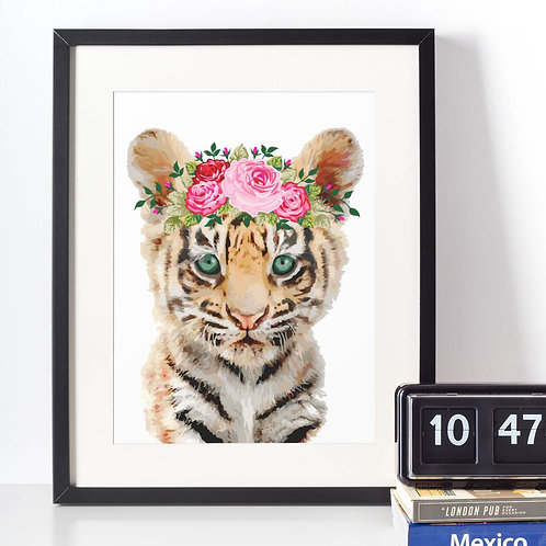 Affiche Tigre watercolor