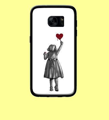 Coque mobile samsung fille peint un coeur 12