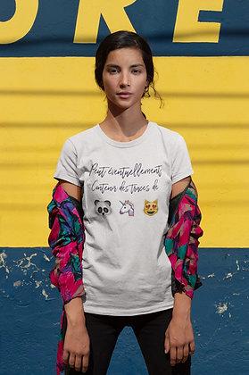 tshirt licorne chat panda citation idée cadeau