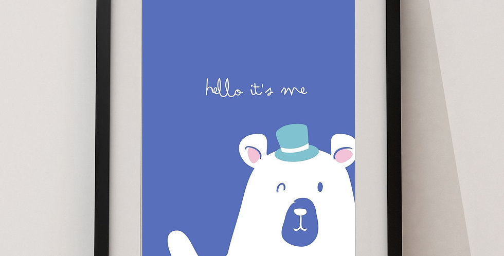 Affiche Ours hello it's me 134