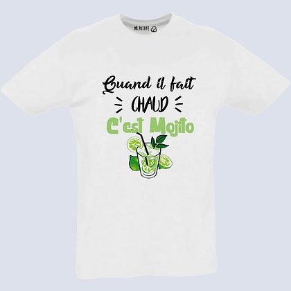 T-Shirt Unisexe Quand il fait chaud mojito 540