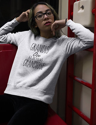 Sweat Pull Over Grandis ose et deviens grandiose