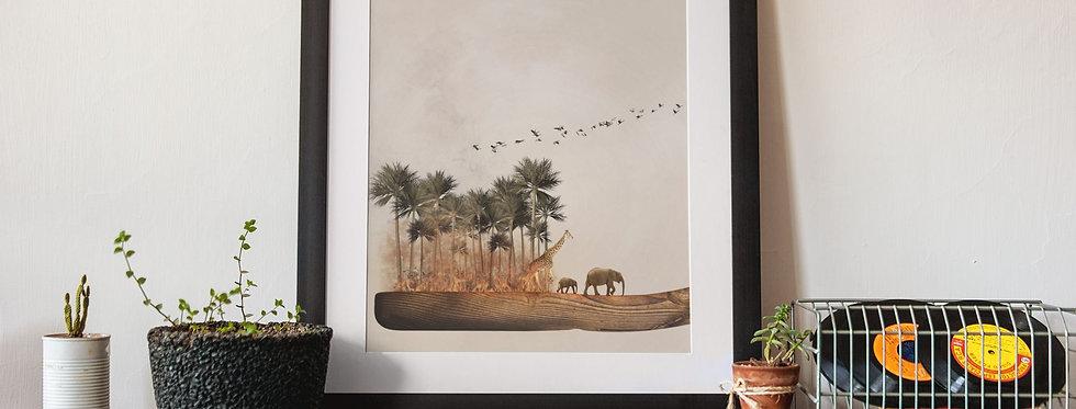 Affiche illustration éléphant 410