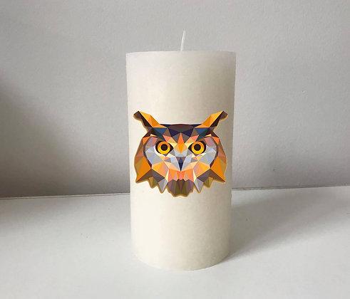 Bougie Personnalisée Nany Candle hibou
