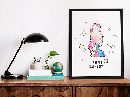 Affiche Illustration citation licorne