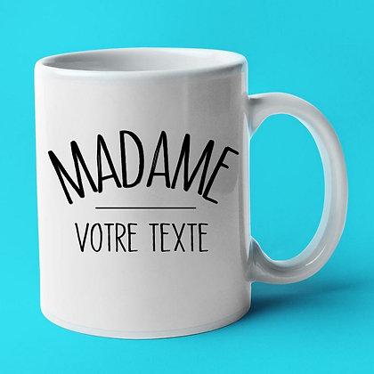 Mug personnalisable madame