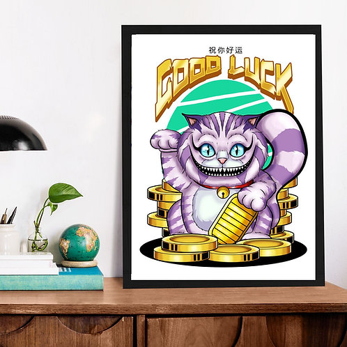 Affiche Good Luck Chat de cheshire